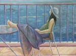 Expectation Woman on Porch by Seaoiloncanvas