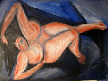 """Odalisque at Large"" 18"" x 24"""