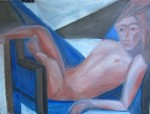 """""""Angled into the Chair"""" 24"""" x 18"""""""