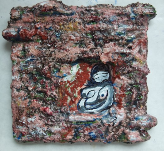 "Milan Wall Woman, 4"" x 4"""