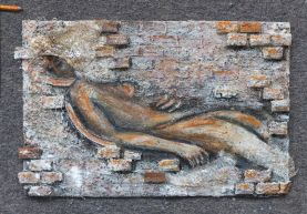 """Sleeping in the Wall, 30"""" x 20"""" (Sold)"""