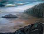 Rocky Shore on canvas SOLD